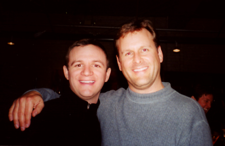 Dave Coulier - Actor-comedian-hockey player Dave Coulier (Full House) backstage with Nik singer Ryan Walsh.