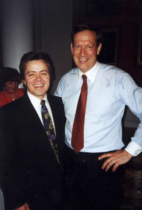 George Pataki - NY Governor George Pataki with Nik's Gary Webb at an Albany, NY Gala. George plans to audition for Nik and the Nik Guys when he retires from politics - true story, just ask him.