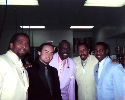 The Temptations - Sax God Danny Mark poses with the Temptations in Toronto.