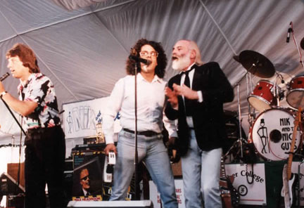 The Turtles - On stage with Nik, Rob Grill of the Grass Roots and Mark Vollman and Howard Kaylan of the Turtles.