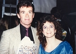Alan Thicke - Alan Thicke backstage at a Washington Capitals party with Nik's Cheri Benz.