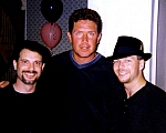Dan Marino - Ian Cohen and Al Lis of the Blues Family Showband flank superstar Dan Marino at a Miami fundraiser.