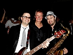 Danny Wegman - Grocery Titan Danny Wegman relaxes with Nik and the Nice Guys bassist John Bidwell, and Sax God Danny Mark