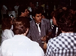 Jay Leno - Jay Leno signs autographs at a show with Nik at State University of NY at Geneseo. Nik bodyguard Jim Paratore is protecting Jay.