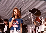 Justine Bateman - Justine Bateman (Family Ties) emcees a Nik performance at an NFL Super Bowl party just outside the Rose Bowl in Beverly Hills.