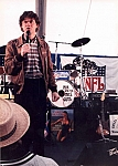 Rich Hall - Comedian Rich Hall about to introduce Nik and the Nice Guys at a Super Bowl NFL party in New Orleans.